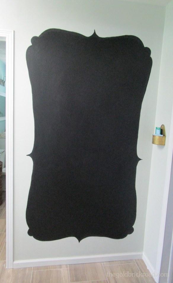 DIY Chalkboard Wall // thegoldbrickroad.com