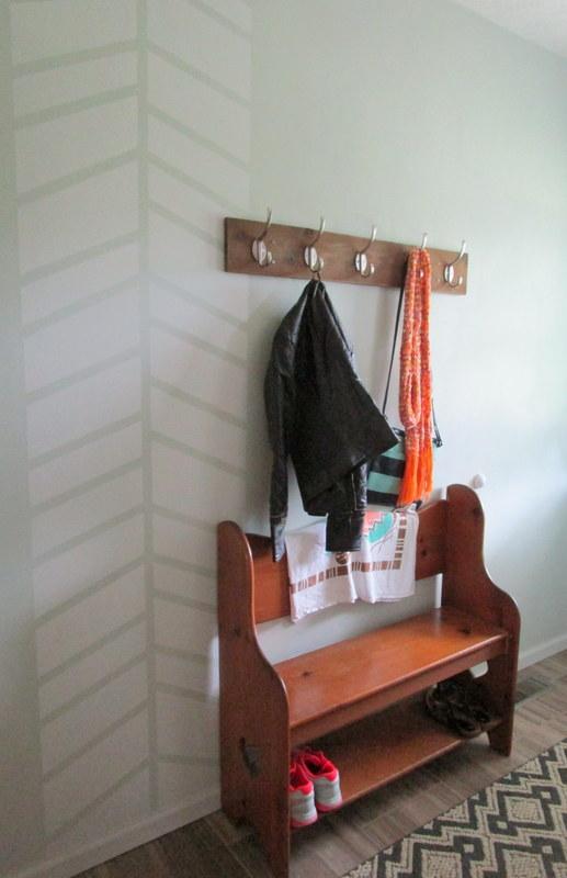 DIY Rustic Coat Rack // thegoldbrickroad.com