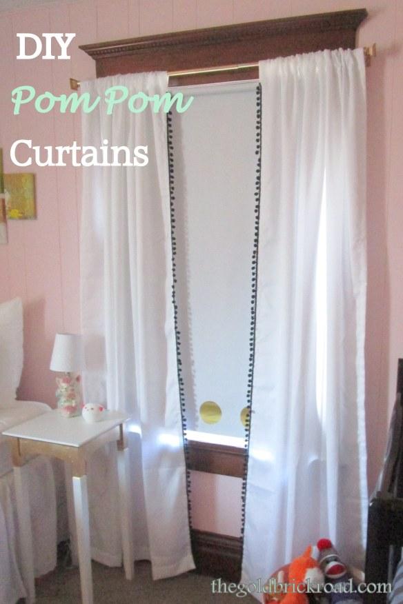 DIY Pom Pom Curtains // thegoldbrickroad.com