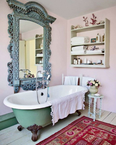 Exotic-rustic-bathroom-large-mirror-wall-mount-cabinet-decor-ideas