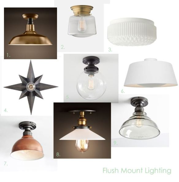 Flush Mount Lighting // thegoldbrickroad.com