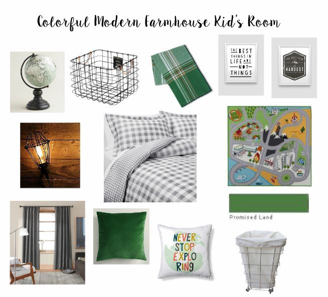 Colorful Modern Farmhouse Kid's Room // thegoldbrickroad.com