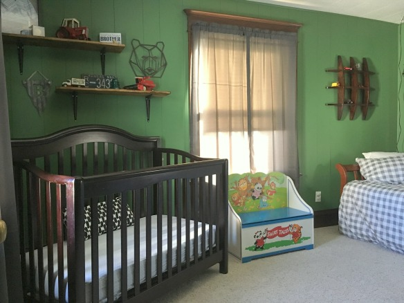 Bo's Colorful Farmhouse Nursery // thegoldbrickroad.com